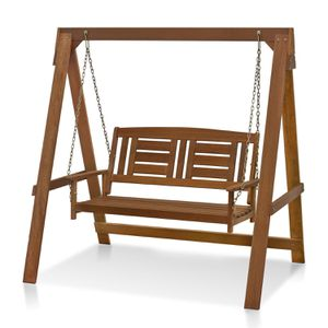 Hanging Porch Swing with Stand in Teak Oil Home Garden Use for Sale in Los Angeles, CA
