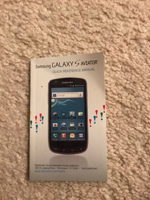 Samsung Galaxy S Aviator Quick Regrence Manual for Sale in New London, MO