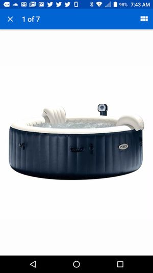 Intex PureSpa Portable Bubble Jet Spa 6 Person Inflatable Round Hot Tub for Sale in Rockville, MD