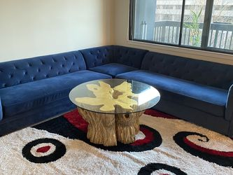 Blue Velvet Sofa for Sale in Falls Church,  VA