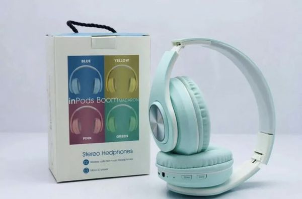 Macaron Bluetooth Headset Wireless Inpods HD Sound For Android/iPhone