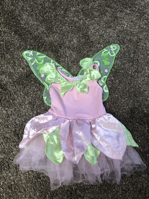 tinker bell dress size 2t with attachable wings