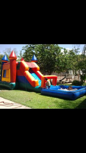 bigslide jumper with pool for Sale in Moreno Valley, CA