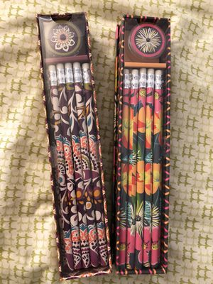 Brand New Vera Bradley Pencil Set with Sharpener - Retails for $15 each - Selling 2 Packs for $12 - PICKUP IN AIEA - I DON'T DELIVER for Sale in Aiea, HI