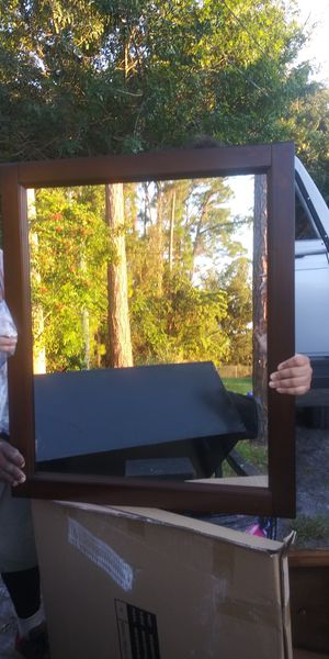 Brand new in box wood framed wall mirror 36by26 15dol firm lots deals my post go see for Sale in Jupiter, FL