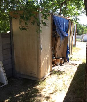 Storage shed made out of theater boxes. $100 firm for Sale in Las Vegas, NV