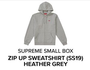 Supreme small box zip up sweater for Sale in Temple City, CA
