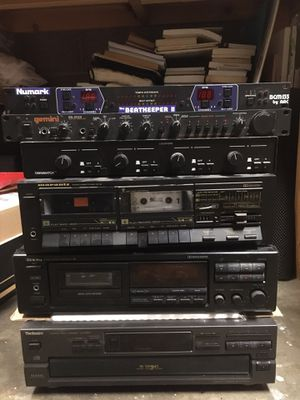 Tape deck, CD player, speaker selector switch, DJ equipment, Neumark, Gemini, Onkyo, Marantz, technics for Sale in Albuquerque, NM