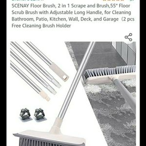 Floor Scrub Brush With Squeegee for Sale in Modesto, CA