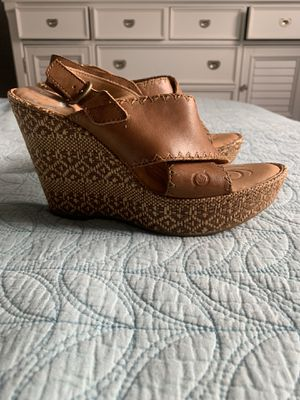 Tan Born wedges Size 8 for Sale in Fort Lauderdale, FL