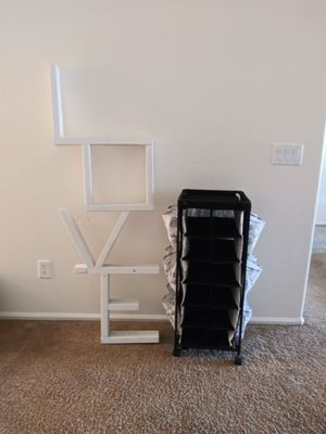 Love wall shelving and cart. for Sale in Goodyear, AZ