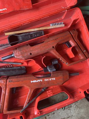2 Hilti DX E72 Powder Actuated Nailer Nail Gun for Sale in Sterling, VA