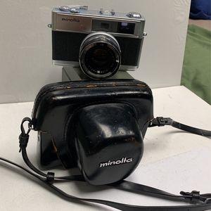 Minolta Hi-matic 7s 35mm Film Camera Range Finder With Rokkor Lens 45mm And Leather Case for Sale in Norwalk, CA