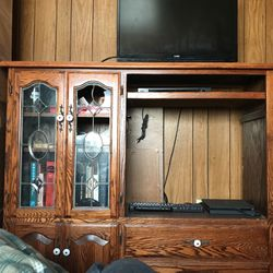 Solid Wood Entertainment Center for Sale in Redmond,  WA