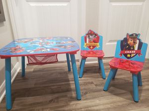 Paw Patrol Kids/children's table and chair set for Sale in Forney, TX