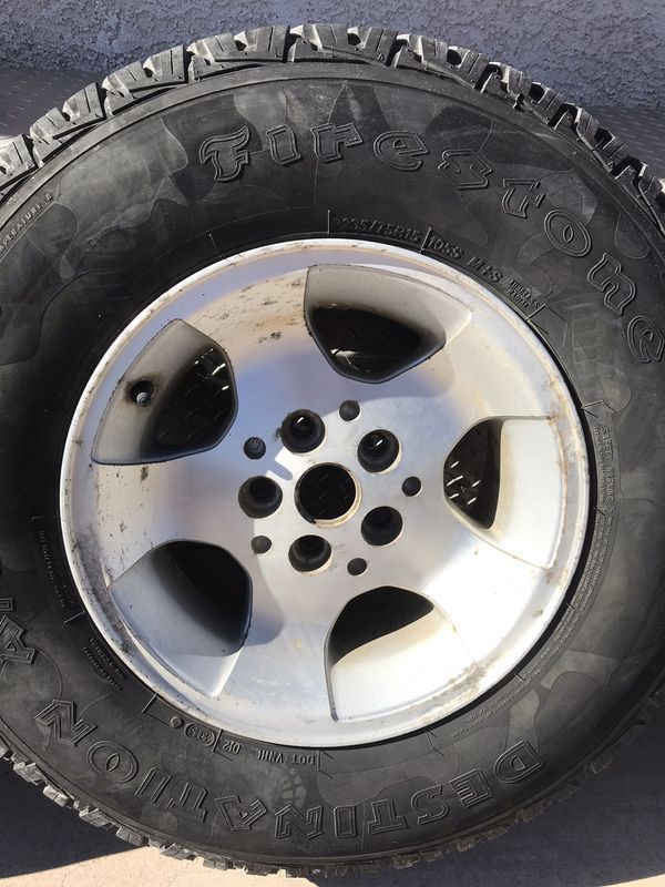2000 Jeep tj rims and tires