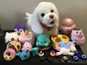 FurReal Friends Get Up & GoGo My Walkin' Pup Pet + Squishies + Fidget Spinner for Sale in Boca Raton, FL