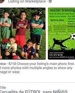 E S C U E L I T A de F U T B O L Infantil SOCCER SCHOOL for Sale in Annandale,  VA