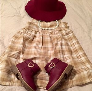 3T Girl Old Navy Tan Plaid Thick Flannel / Wood Sleeveless Dress for Sale in Bountiful, UT