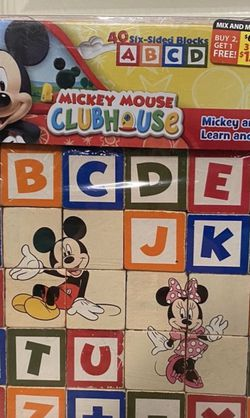 Mickey Mouse Clubhouse Alphabet Wooden Blocks Toy for Sale in Battle Ground,  WA
