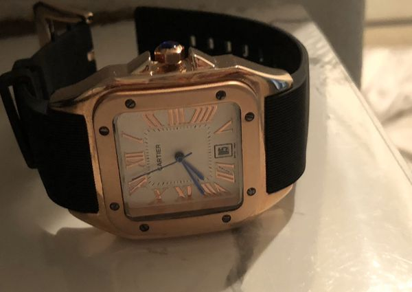 Cartier Santos 100 large rose gold want it gone sell or trade apple AirPods pro x 3