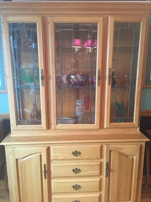 Solid oak buffet and China cabinet for Sale for sale  Neptune City, NJ