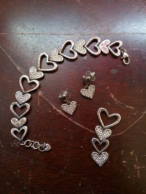3 peice set of heart jewelery for Sale in Richmond, VA