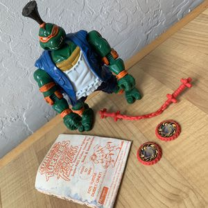 Vintage 1994 Teenage Mutant Ninja Turtles Tournament Fighters Kung-Fu Mike, Michelangelo TMNT Action Figure Collectable Toy with 3 Accessories and Bo for Sale in Elizabethtown, PA