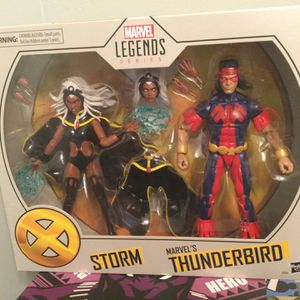 BRAND NEW 2 PACK MARVEL LEGENDS X-MEN STORM AND THUNDERBIRD FIGURE SET for Sale in Fort Myers, FL