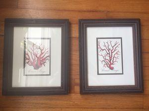 2 paintings in dark wood frames for Sale in Fort Lauderdale, FL