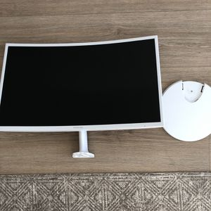 "Samsung Curved 1920x1080 HDMI VGA Monitor, White, 27"" for Sale in Los Angeles, CA"