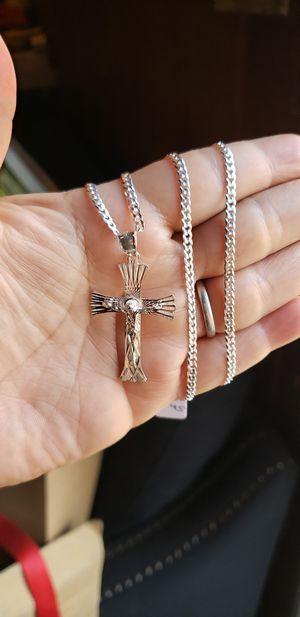 Sterling silver real 925 cross for Sale in Bakersfield, CA