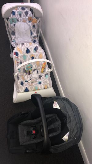 Baby Swing & Chair, Car seat with base for Sale in Philadelphia, PA