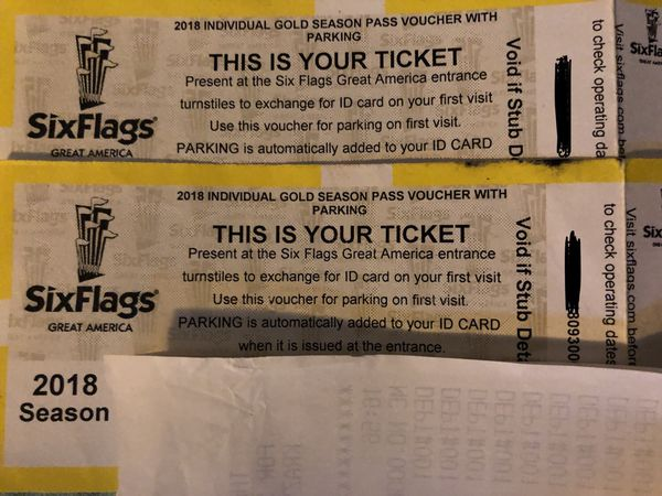 Six flags Season pass Gold Plus for Sale in Chicago, IL - OfferUp