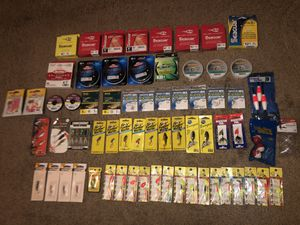 Fishing lines, spinners, leaders and more for Sale in Fresno, CA