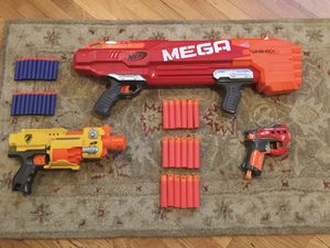 Nerf gun lot with Mega Twinshock, Barricade, and more for Sale in Los Angeles, CA