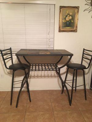 Hightop Table w/ 2 Barstools for Sale in Phoenix, AZ