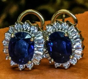 Sapphire diamond good earrings new for Sale in Atlanta, GA