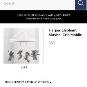 Pottery Barn Kids Musical Elephant Mobile and Arm for Sale in Dallas, TX