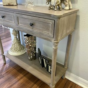 Grey Console Table 2ft 11inches long and 2ft 8.5 inches tall for Sale in Riverview, FL