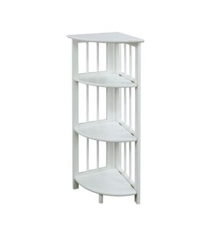 Corner Folding Shelf Bookcase (White) (BRAND NEW) for Sale in Katy, TX