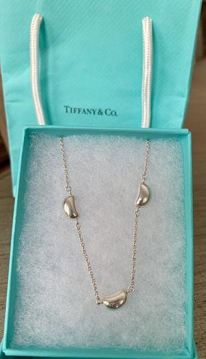 RARE- Tiffany & Co. Elsa Peretti 3 bean necklace/ choker 925 silver for Sale in Tustin, CA