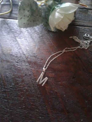Silver 924 necklace letter m for Sale in Denver, CO