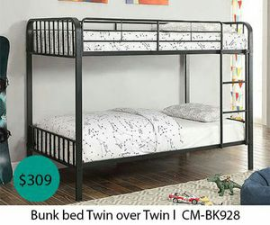 Bunk bed twin over twin for Sale in Orange, CA