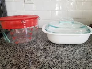 8 cup Pyrex mixing bowl Corning ware casserole dish with lid corelle for Sale in La Verne, CA