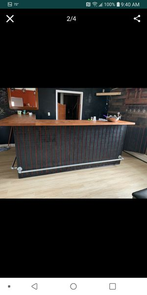 Bar comes in two parts. 6 feet buy 7 feet come's with a 3 bay washing station. for Sale in Hartford, CT