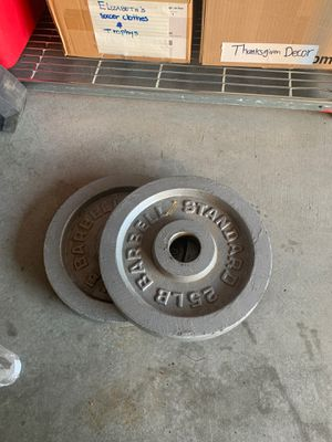 Weight plates each 25lb $100 for Sale in Lathrop, CA