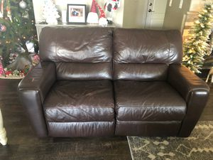 Leather love seat for Sale in Salida, CA