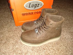 WEDGE LUGZ WORK BOOTS SIZE 12 STEEL TOE for Sale in Anaheim, CA