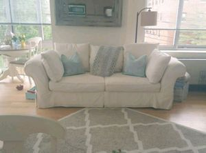 Slipcover Sofa Couch Farmhouse Rustic Shabby Chic for Sale in White Plains, NY